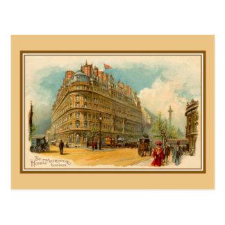 Cartão Postal Hotel Metropole de Londres do litho da arte dos
