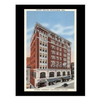 Cartão Postal Hotel Miller, vintage dos WI de Milwaukee
