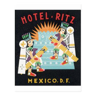 Cartão Postal Hotel Ritz, México, gráfico da propaganda do DF