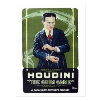 """Cartão Postal Houdini - """"cartão do jogo desagradável"""""""