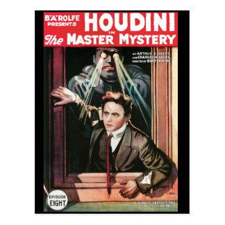 Cartão Postal Houdini, o poster vintage 1919 do mistério do