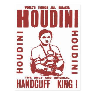 Cartão Postal Houdini o rei da algema
