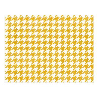 Cartão Postal Houndstooth - mostarda