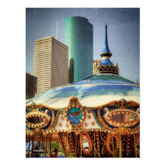 Cartão Postal Houston eleva-se e o recinto de diversão monta