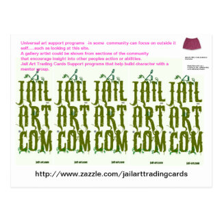 Cartão Postal http://www.zazzle.com/jailarttradingcards