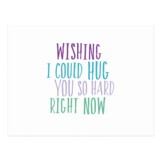 Cartão Postal Hugs So Hard Postcard