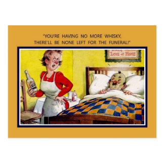 Cartão Postal Humor britânico do vintage, não mais uísque