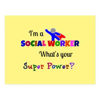 Cartão Postal Humor do assistente social