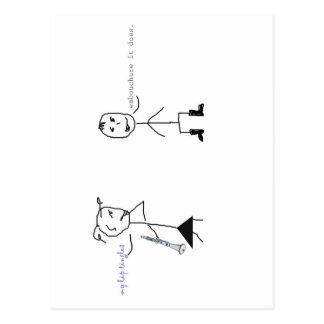 Cartão Postal Humor do clarinete