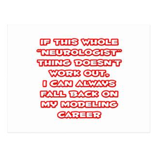 Cartão Postal Humor do neurologista… que modela a carreira