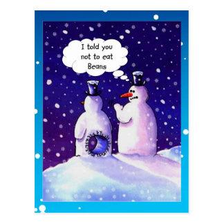 Cartão Postal Humor dos bonecos de neve