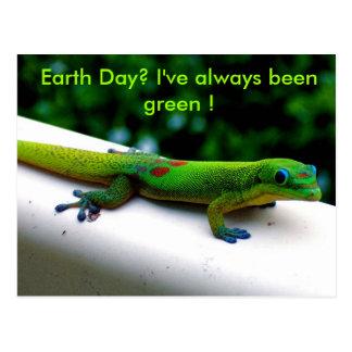 Cartão Postal Humor verde da conservação do ambiente