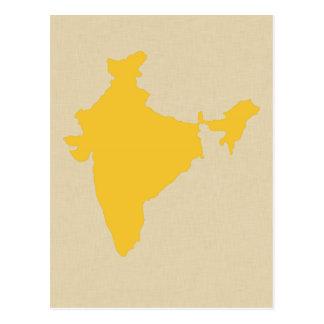 Cartão Postal Humores azuis India da especiaria do açafrão