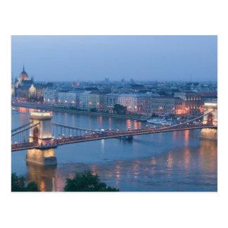 Cartão Postal HUNGRIA, Budapest: Ponte (Chain) de Szechenyi, 3