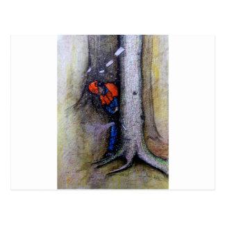 Cartão Postal Husqvarna do stihl do cirurgião de árvore do