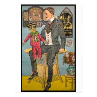 Cartão Postal Hypnotised pelo mestre do fantoche