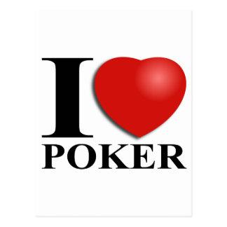 Cartão Postal I Love Poker