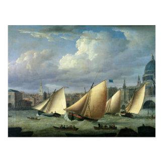 Cartão Postal Iate de começar da frota de Cumberland
