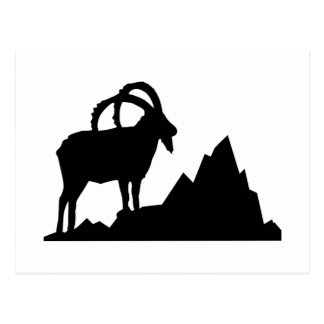 Cartão Postal Íbex - Capricórnio