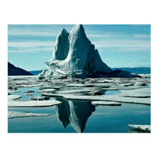 Cartão Postal Iceberg, estação meteorológica do Fiord de Slidre,