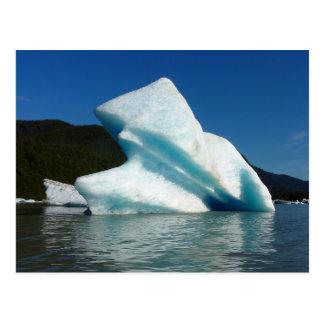 Cartão Postal Iceberg no lago Mendenhall em Alaska