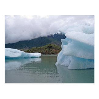 Cartão Postal Iceberg no lago Mendenhall, Juneau Alaska