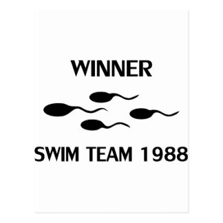 Cartão Postal ícone 1988 da equipe de natação do vencedor