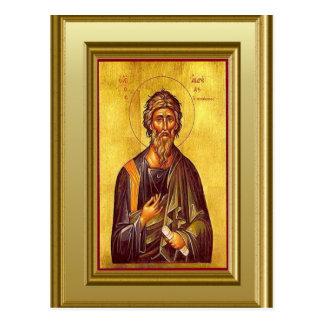 Cartão Postal Ícone cristão do escritor do evangelho