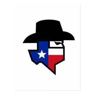 Cartão Postal Ícone da bandeira de Texas do bandido