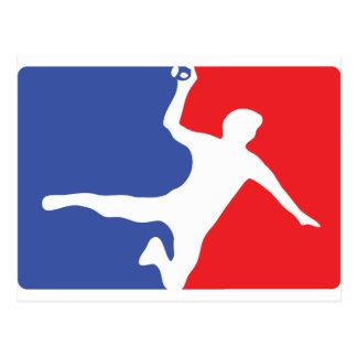 Cartão Postal Ícone da legenda do handball