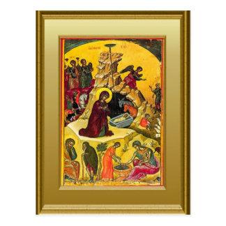 Cartão Postal Ícone da Virgem Maria e da criança Jesus