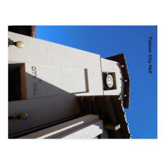 Cartão Postal Ícone de Folsom: Câmara municipal de Folsom, torre