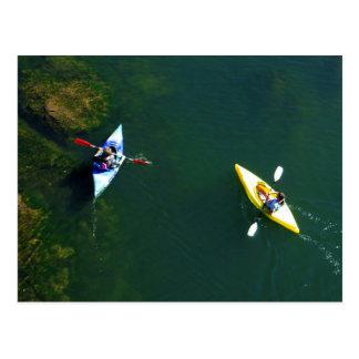 Cartão Postal Ícone de Folsom: Kayakers no rio americano