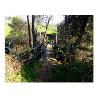 Cartão Postal Ícone de Folsom: Ponte de fuga de madeira