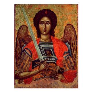 Cartão Postal Ícone do anjo Michael, grego, século XVIII
