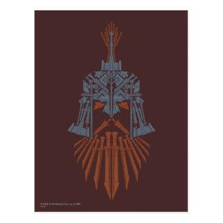 Cartão Postal Ícone do capacete das armas de Dwarven