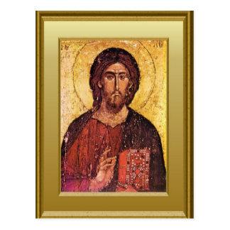 Cartão Postal Ícone do cristo