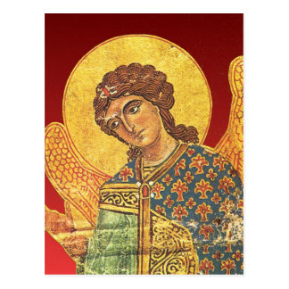 Cartão Postal Ícone ortodoxo do vintage, anjo Gabriel