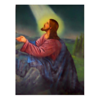 Cartão Postal Ícone ortodoxo pintado mão do senhor Jesus Cristo