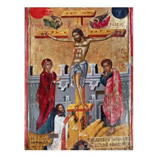Cartão Postal Ícone que descreve a crucificação, 1520