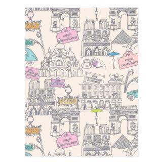 Cartão Postal Ícones de Paris