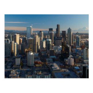 Cartão Postal Ideia aérea da skyline da cidade de Seattle