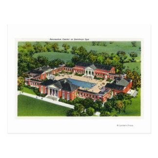 Cartão Postal Ideia aérea do centro recreativo dos termas de