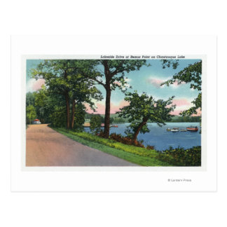 Cartão Postal Ideia da movimentação da beira do lago ao longo do