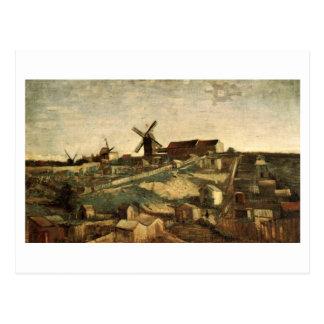 Cartão Postal Ideia de Montmartre & de belas artes de Van Gogh