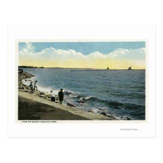 Cartão Postal Ideia de parque de beira-mar do som
