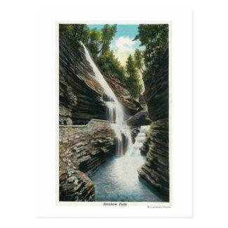 Cartão Postal Ideia de quedas do arco-íris