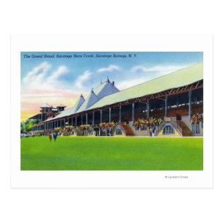Cartão Postal Ideia de Racegrounds do suporte grande na trilha