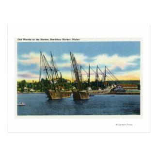 Cartão Postal Ideia de Shipwrecks velhos no porto