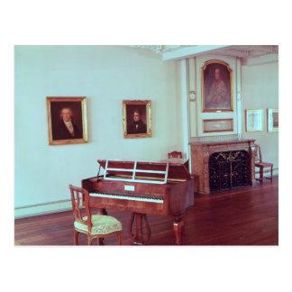 Cartão Postal Ideia de uma sala com um piano de cauda